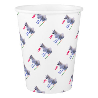 Love is a four legged word paper cup