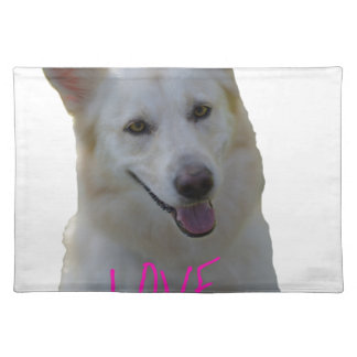 Love is a four legged word placemat