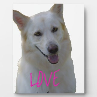 Love is a four legged word plaque