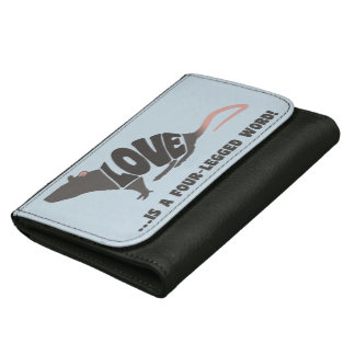 Love is a four-legged word! - rat leather wallets