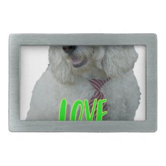 Love is a four legged word rectangular belt buckle
