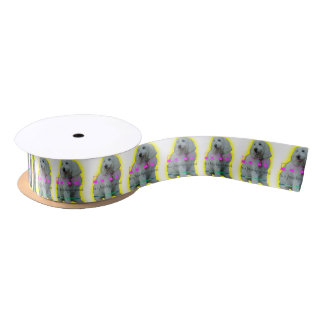 Love is a four legged word satin ribbon