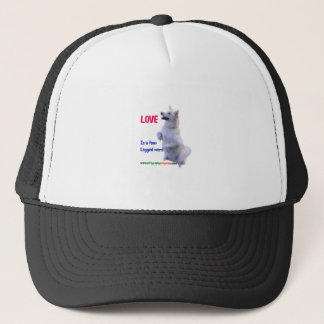 Love is a four legged word trucker hat