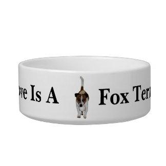 Love Is A Fox Terrier, Ceramic Pet Bowl
