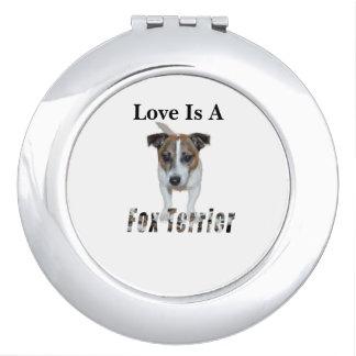 Love Is A Fox Terrier, Travel Mirror
