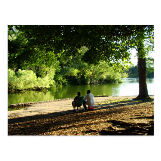 Love is a gentle breeze by the Lake Postcard