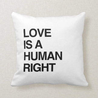 LOVE IS A HUMAN RIGHT THROW PILLOWS