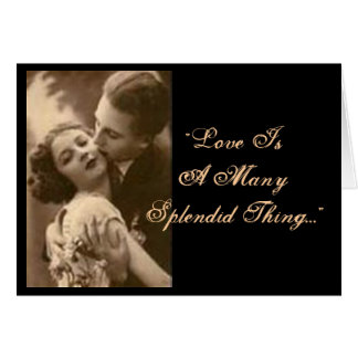 """""""Love Is A Many Splendid Thing"""" Engagement Card"""