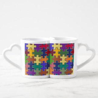 love is a puzzle coffee mug set