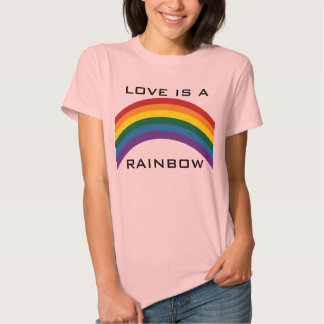 Love Is A Rainbow Womens T-shirts (Front)