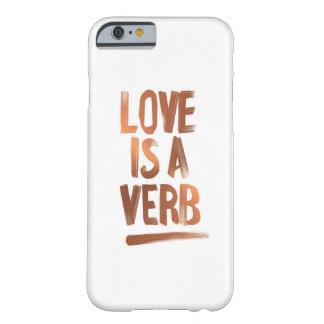 Love Is A Verb Copper Phone Case