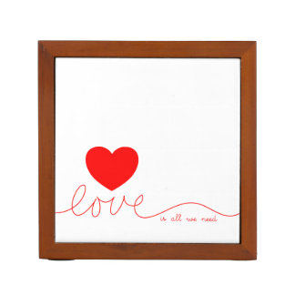 Love Is All We Need Heart Desk Organizers
