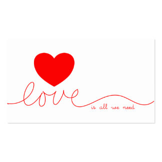 Love Is All We Need Heart Pack Of Standard Business Cards