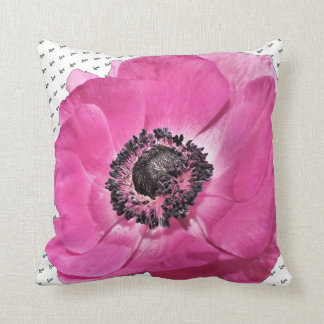 Love Is All We Need Pink Poppy Floral Throw Pillow