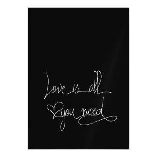 Love is all you need magnetic invitations