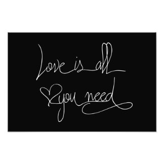 Love is all you need photo print