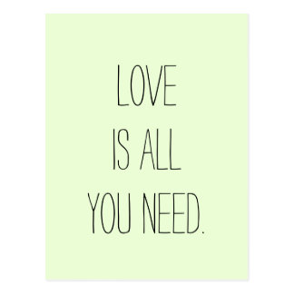"""""""Love is All you Need"""" Postcard"""
