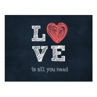 Love is all you need Quote Postcard
