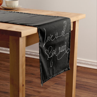 Love is all you need short table runner