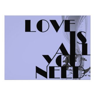 Love Is All You Need Typographic Print