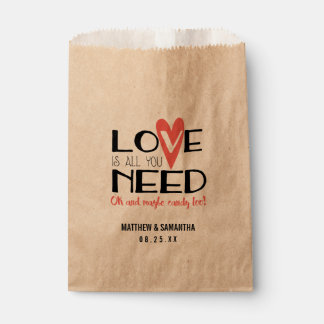 Love is all you Need Wedding Candy Bar Buffet Favour Bag