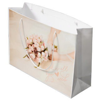 Love is all you need- Wedding Large Gift Bag