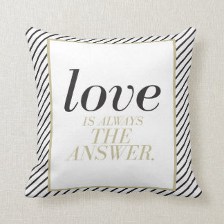 Love is Always the Answer Monogram Throw Pillow