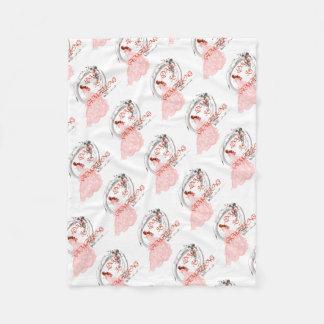 LOVE IS AMAZING - Bride in Pink Dress Fleece Blanket