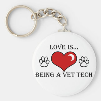 love is being a vet tech keychain