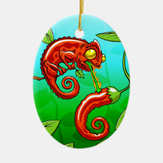 love is blind - chameleon fail ceramic ornament