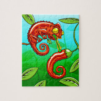 love is blind - chameleon fail jigsaw puzzle
