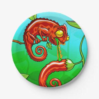 love is blind - chameleon fail paper plate