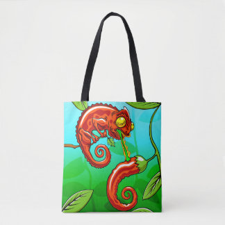 love is blind - chameleon fail tote bag
