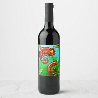love is blind - chameleon fail wine label