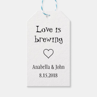 Love is Brewing Wedding Gift Tags Pack Of Gift Tags