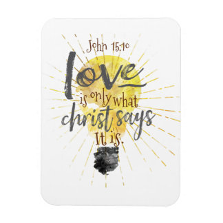 """LOVE IS"" Christian Magnet,  3""x4"" Magnet"