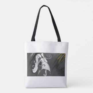 love is curled tote bag