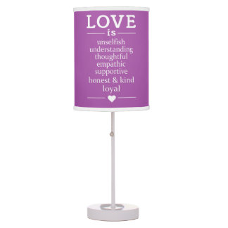 Love Is … custom color table lamps / shades