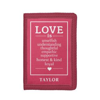Love Is … custom name wallets