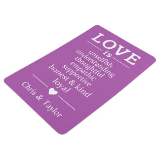 Love Is … custom names & color floor mat