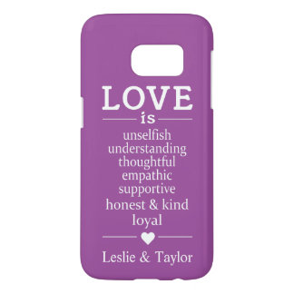 Love Is … custom names & color phone cases