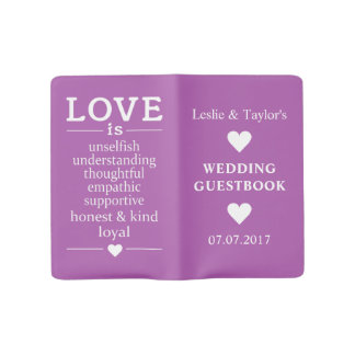 Love Is … custom names, date & color guest book