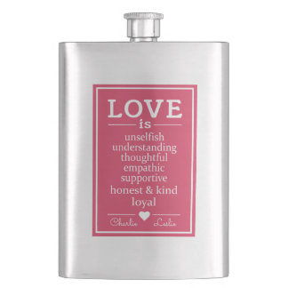 Love Is …custom names flask