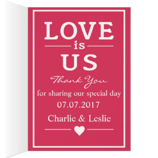 Love Is … custom text greeting cards