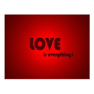 love is everything! postcard