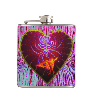 Love is Evil II hip flask