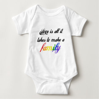 Love is Family - Script Baby Bodysuit