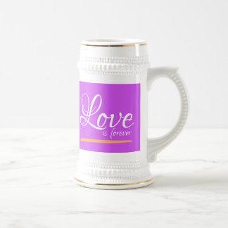 Love is forever mugs jugs Beer Steins