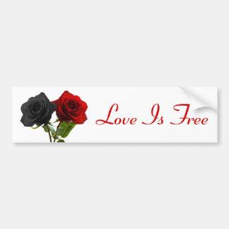 Love is free bumper sticker