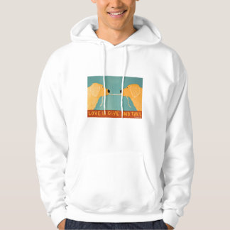 Love is Give and Take- Goldens - Stephen Huneck Hoodie